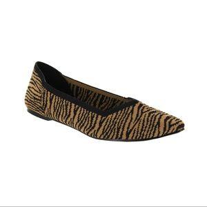 MIA Kerri Zebra Flyknit Flats